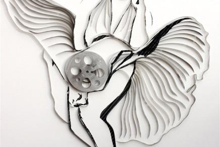 L'art de recycler ces cassettes par Erika Iris Simmons