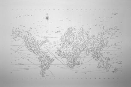 La carte du monde en typographie