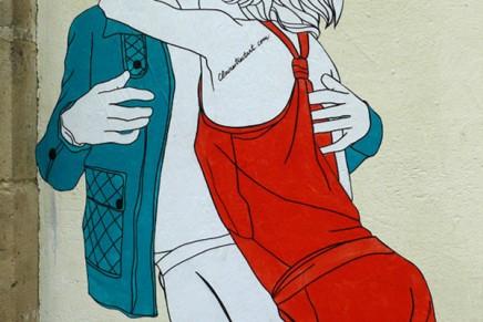 Claire Streetart, les amoureux dans la rue