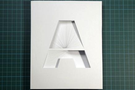 Typographie papier en relief par Bianca Chang
