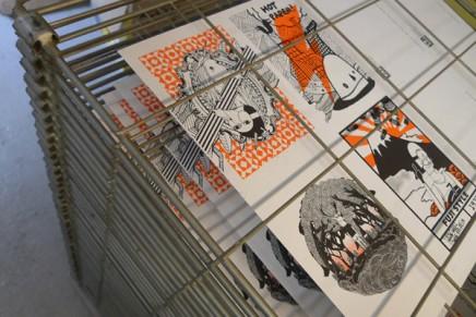 Tazasproject, cartes postales sérigraphiques