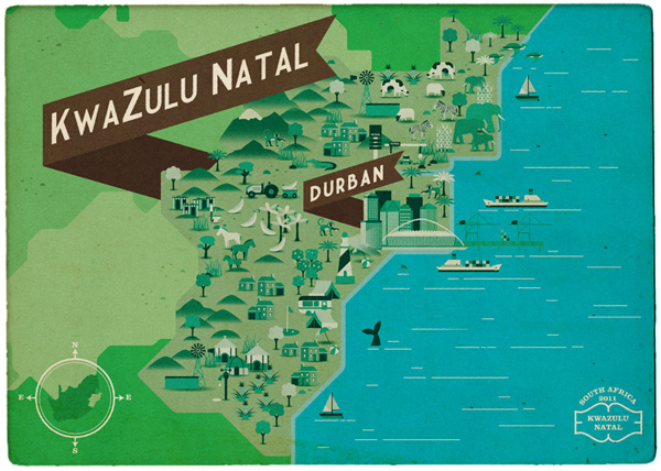 Radio Afrique du sud Carte postale