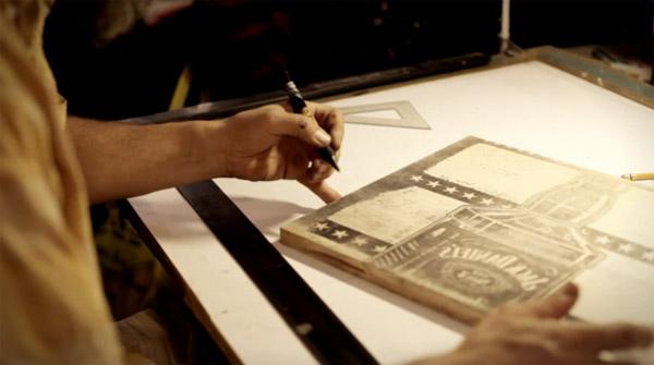 Jack daniels letterpress