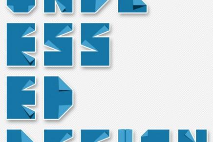 Typogami, l'art de la typographie et de l'origami