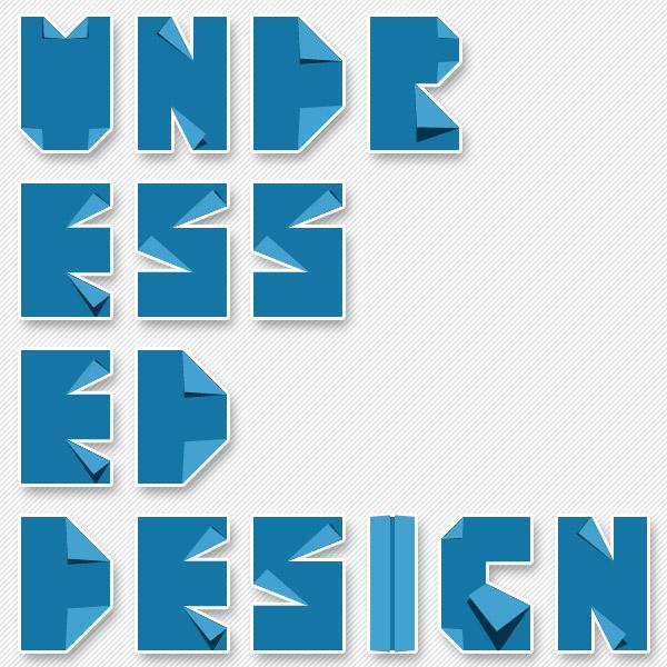 Typogami Undressed Design
