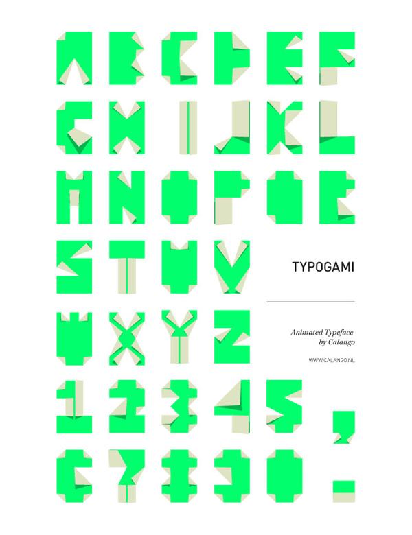 Typogami font