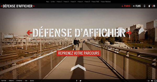 Défense d'afficher Webdoc France tv