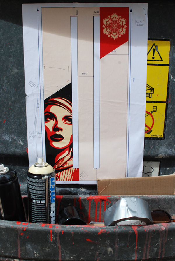 Rise above rebel Obey Sheipard Fairey Paris