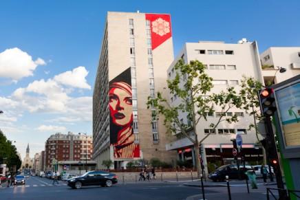 Rise Above Rebel, un mur de Shepard Fairey à Paris