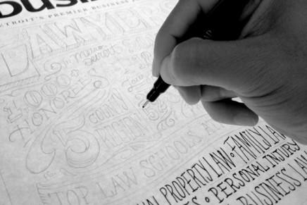 Joel Felix, processus de couverture typographique à la main