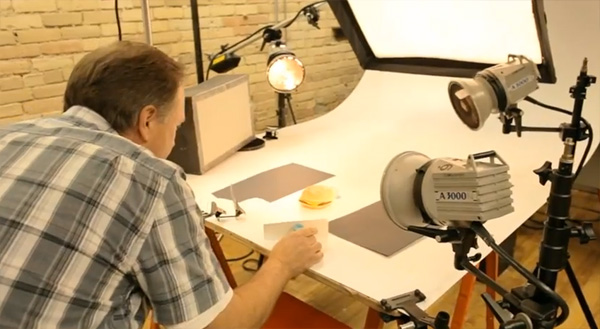 Behind the scenes at a McDonald's photo shoot