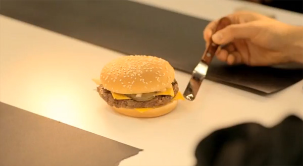 Behind the scenes at a McDonald's photo shoot