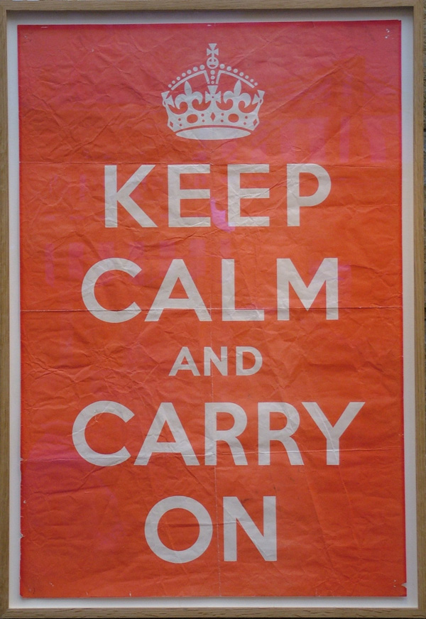 Keep calm and carry on Poster Story