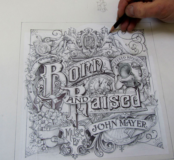 John Mayer's 'Born & Raised' Artwork by David A. Smith