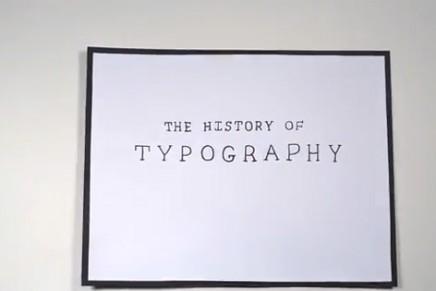 L'histoire de la typographie