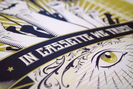 In Cassette We Trust – Poster design process