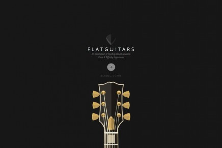Flat Guitars, les illustrations de David Navarro