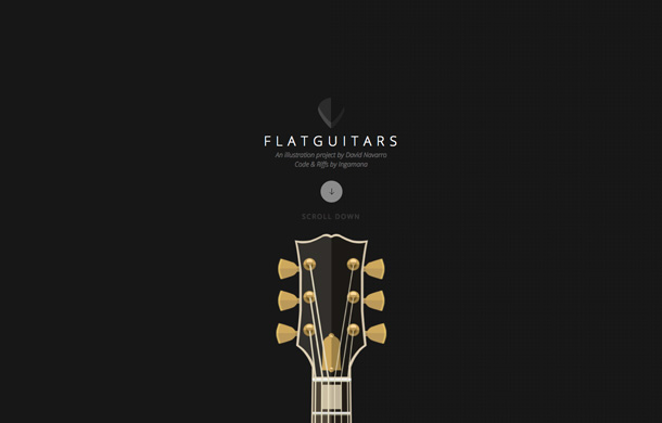 Flat guitars David Navarro Illustration
