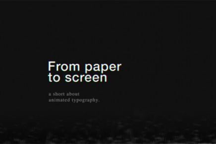 La typographie du papier à l'écran