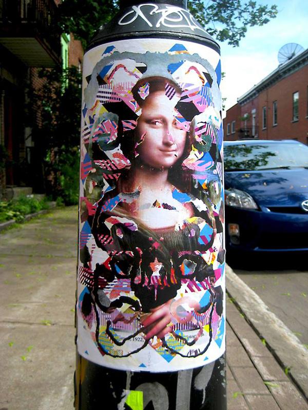 Madame Gilles street art Montréal