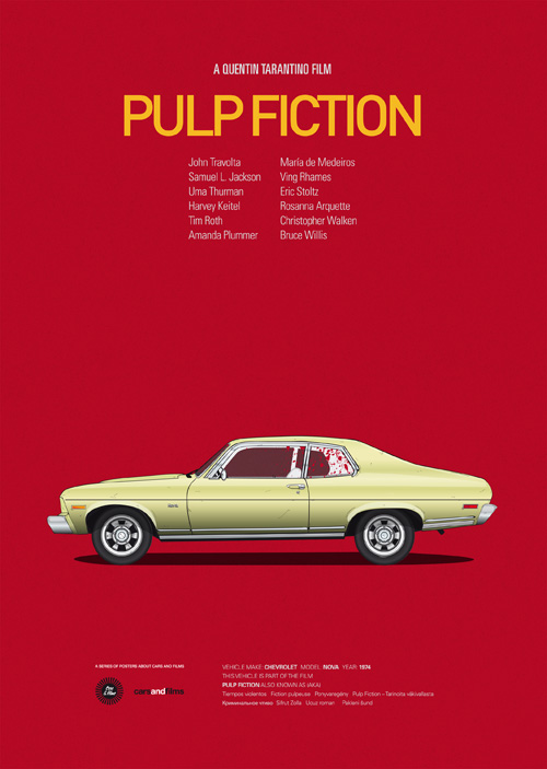 Cars And Films Pulp Fiction
