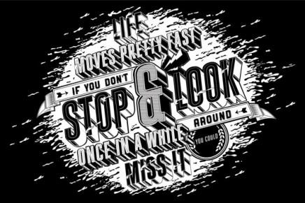 Stop & Look : une superbe mural typographique