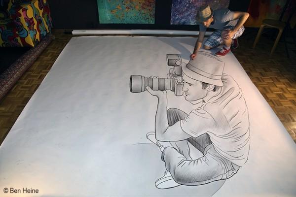 Ben Heine Pencil vs Camera