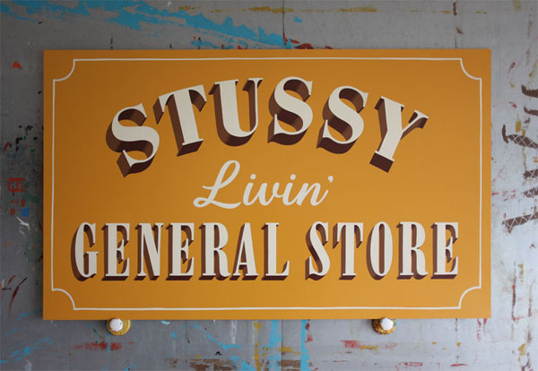 STUSSY Livin' GENERAL STORE, Sign Painting by Jeff Canham