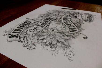 Le Making-of de la pochette de Kings of Leon «Beautiful War» illustrée par David A. Smith