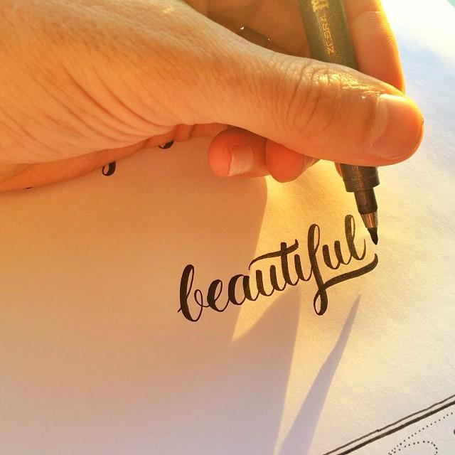 Matt Vergotis - Brush pen ettering