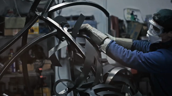 Shaka Steel Sculpture Shockwave