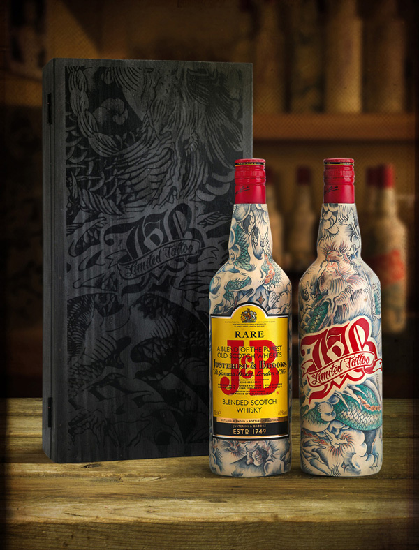 J&B Scotch Whisky tatto