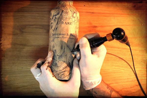 J&B Scotch Whisky tatto