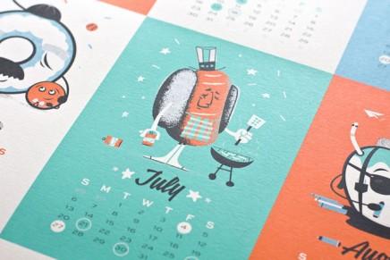 Le making of  du The Junk Food Calendar de 55 Hi's