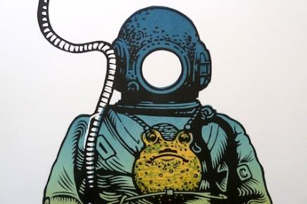 Behind the scene – La linogravure de Linocutboy: Deep Sea Diver