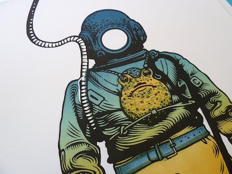 Deep Sea Diver by Linocutboy