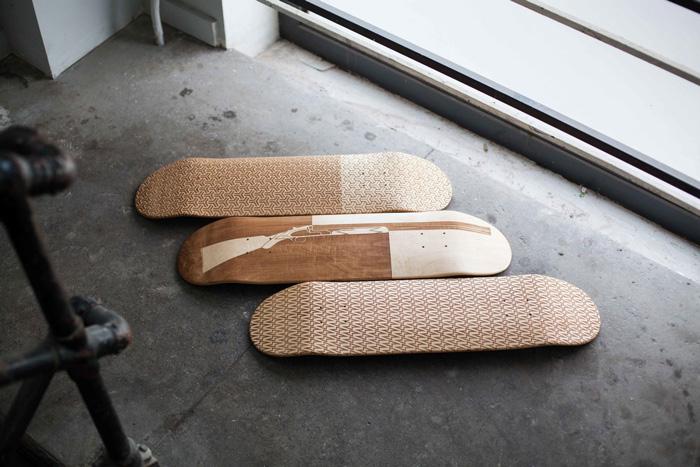 Magnetic Kitchen lasercut skateboard