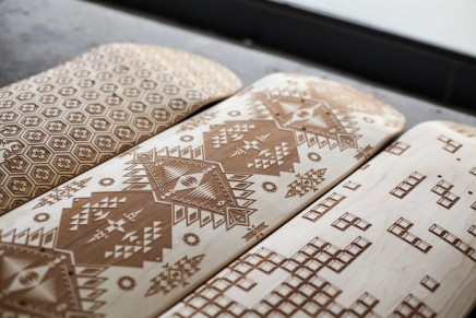 Les planches de skate gravées au laser par Magnetic Kitchen
