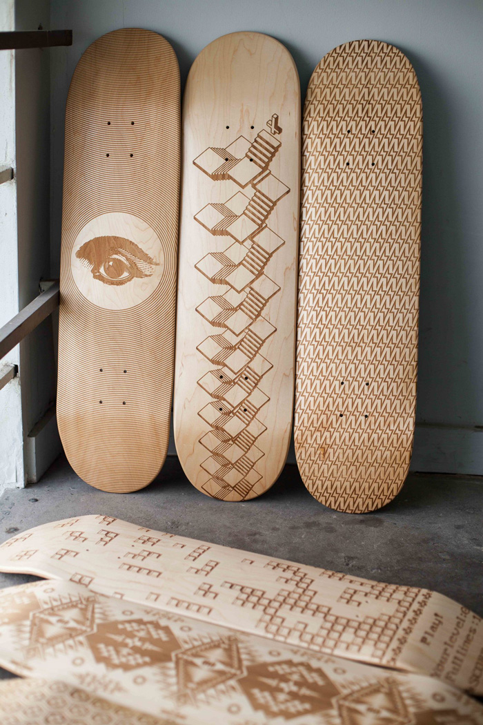 Magnetic Kitchen lasercut skateboard
