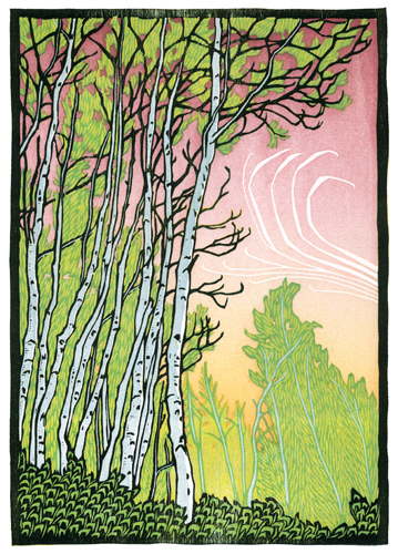 Nick Wroblewski Sway Woodcut printmaker