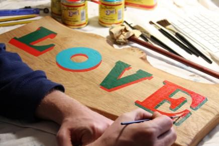 Peinture et typographie pour Lululemon Athletica à Londres