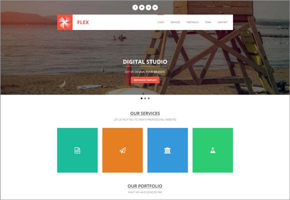 free-html-template-flex