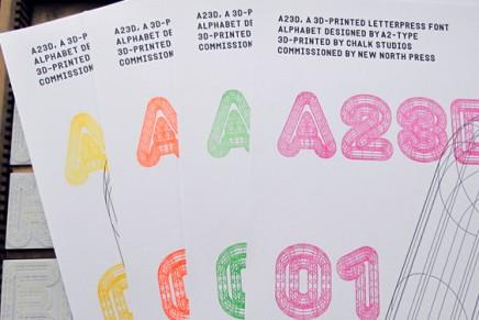 Imprimante 3D et letterpress, un mariage parfait