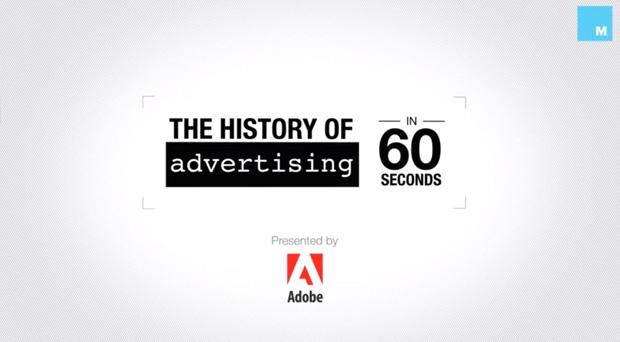 Infographie histoire publicité en 60 secondes