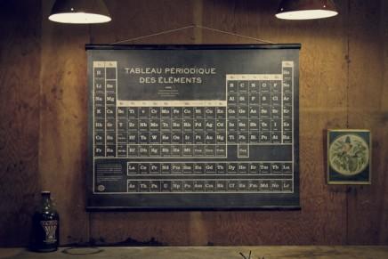 Le tableau périodique des éléments imprimé en sérigraphie