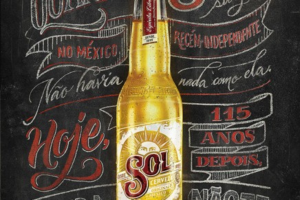 SOL Beer – Affiche à la craie et à la peinture par Jackson Alves