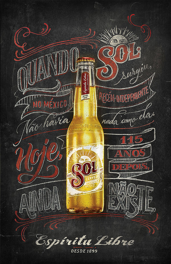 sol beer illustration