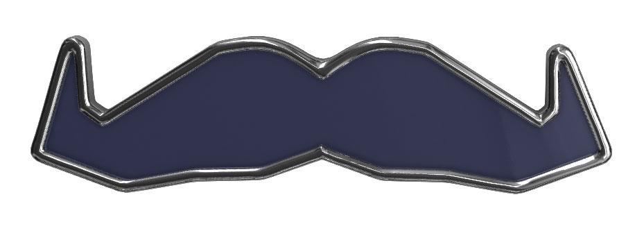 moustache bleue movember 2014