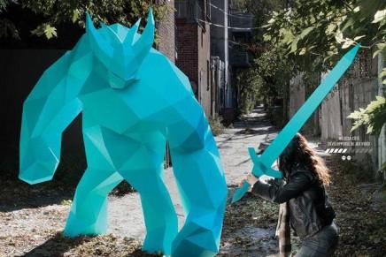 Le making of de la campagne d'affichage Pepakura Ubisoft Montréal par Bye Bye Bambi