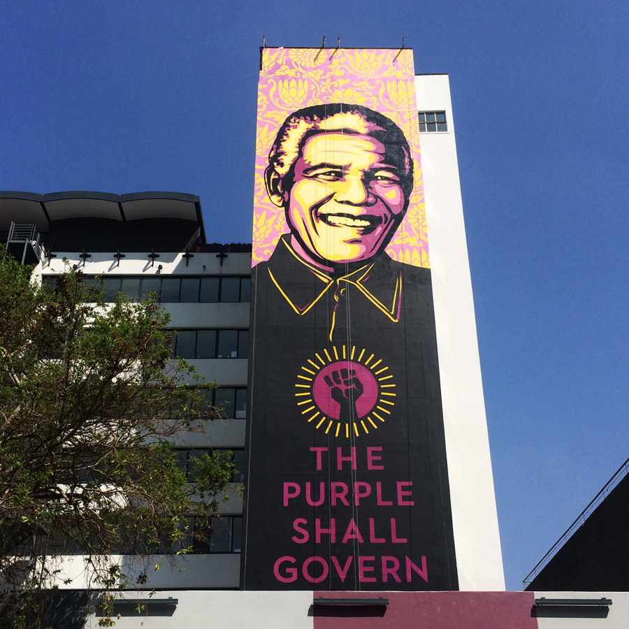 Nelson Mandela Shepard Fairey The Purple Shall Govern